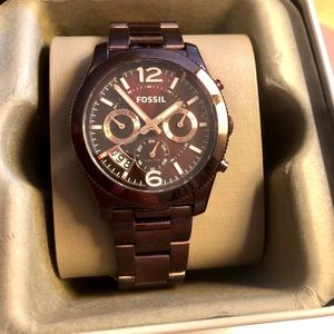 NWT Fossil Boyfriend Multifunction Watch